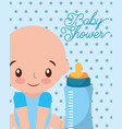 its a boy baby and feeding bottle card vector image