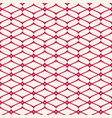 mesh seamless pattern red and white background vector image