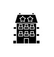 mini hotel black icon sign on isolated vector image vector image