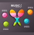 musical infographic template vector image vector image