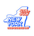 new york state 4th july independence day with vector image vector image