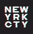 new york t-shirt and apparel design with noise vector image