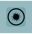Pale blue starburst sign vector image vector image