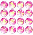 pink spring icons vector image