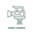 professional video camera line icon linear vector image vector image