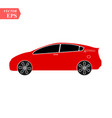 red car icon isolated simple front car logo sign vector image vector image