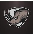 Rhino symbol emblem or logo vector image vector image