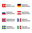 set logotypes templates for tours to mountains vector image vector image