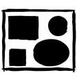 set of grunge frames vector image vector image