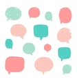 Set of speech bubbles with old grunge texture vector image vector image