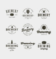 set of vintage brewery logos vector image vector image