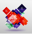 square infographic banner vector image vector image
