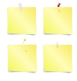 Sticky Notes - Set of yellow sticky notes vector image