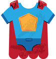 super hero outfit children vector image vector image