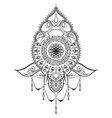 Tattoo template in mehndi style vector image vector image