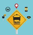 taxi service app smart transport travel vector image vector image