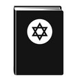 torah book icon simple style vector image vector image