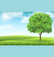 tree on landscape background vector image