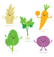 Vegetable cartoon cute set