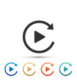 video play button like simple replay icon isolated vector image vector image