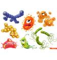 virus bacteria diplococcus streptococcus vector image vector image