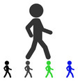 walking child flat icon vector image vector image