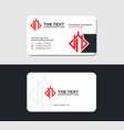white business card with fortress vector image vector image
