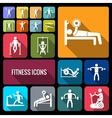 Workout training icons set flat vector image