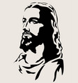 yesus face vector image vector image