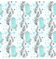 seamless crystal gems pattern with feathers vector image
