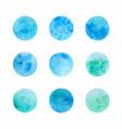 hand drawn watercolor circle textures vector image