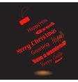 A Black Christmas Ball Of Made Greeting Phrases vector image