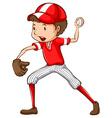A male baseball player vector image vector image