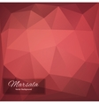 Abstract polygonal background Marsala