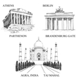 architectural symbols vector image vector image