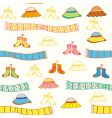 baby accessories seamless vector image vector image