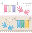 baby shower invitation to gift welcome the child vector image