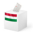Ballot box with voting paper Hungary vector image vector image