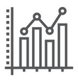bar graph line icon growth and chart vector image vector image