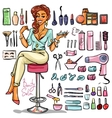 Beauty Salon cartoon collection vector image