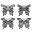 black contour butterflies vector image