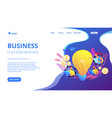 business trend analysis concept landing page vector image vector image