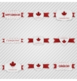 Canada Day paper Tags Set vector image vector image