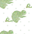 Chameleon seamless cartoon zoo set vector image vector image