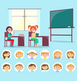classroom and classmate lesson and pupil vector image vector image