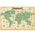 Colorful ancient World map vector image vector image