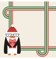 cute penguin christmas character vector image