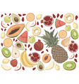 delicious summer food watermelon pineapple vector image vector image