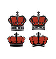 flat crown vector image