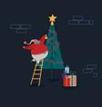 funny christmas santa claus in flat style santa vector image